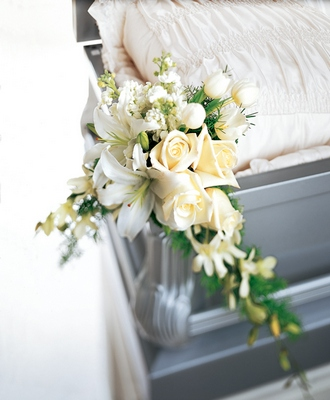 Elegant Remembrance Casket Adornment from Ashland Florist in Lexington, KY