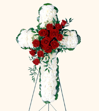 Floral Cross Easel from Ashland Florist in Lexington, KY