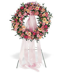 Respectful Pink Wreath from Ashland Florist in Lexington, KY