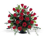 Blooming Red Roses Basket from Ashland Florist in Lexington, KY